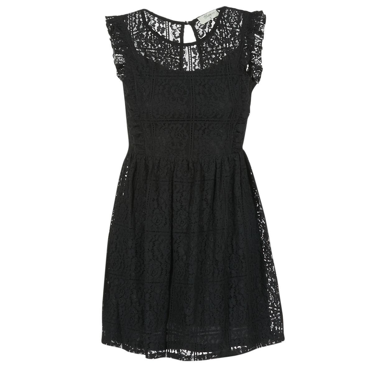 Betty London korte jurk glatos zwart