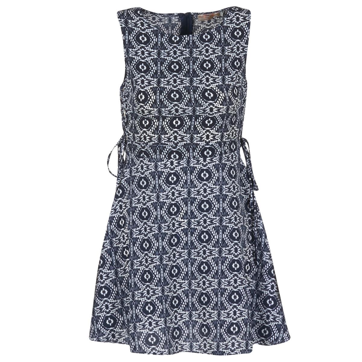 Moony Mood korte jurk gira blauw
