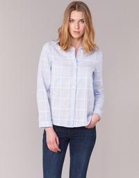 Textiel Dames Overhemden Casual Attitude GAMOU Blauw / Wit