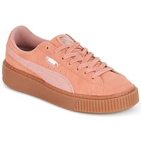 Schoenen Dames Lage sneakers Puma Suede Platform Core Gum Roze
