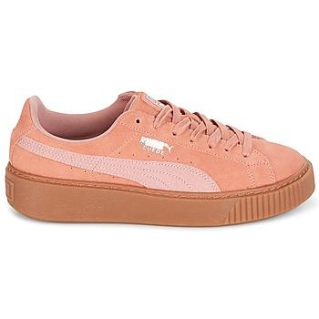 417628e82b4 60% OFF Schoenen Dames Lage sneakers Puma Suede Platform Core Gum Roze