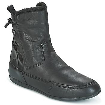 Schoenen Dames Laarzen Geox D NEW MOENA Zwart
