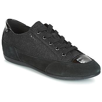 Schoenen Dames Lage sneakers Geox D NEW MOENA Zwart