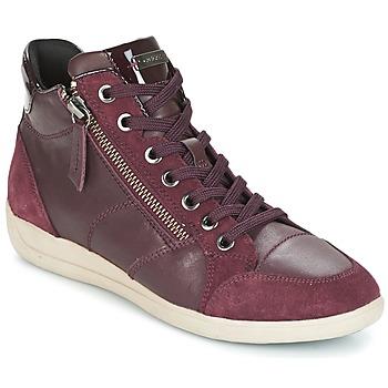 Schoenen Dames Hoge sneakers Geox D MYRIA Bordeau