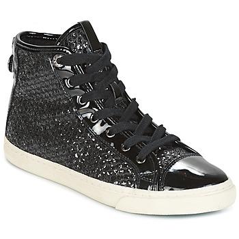 Schoenen Dames Hoge sneakers Geox D NEW CLUB Zwart