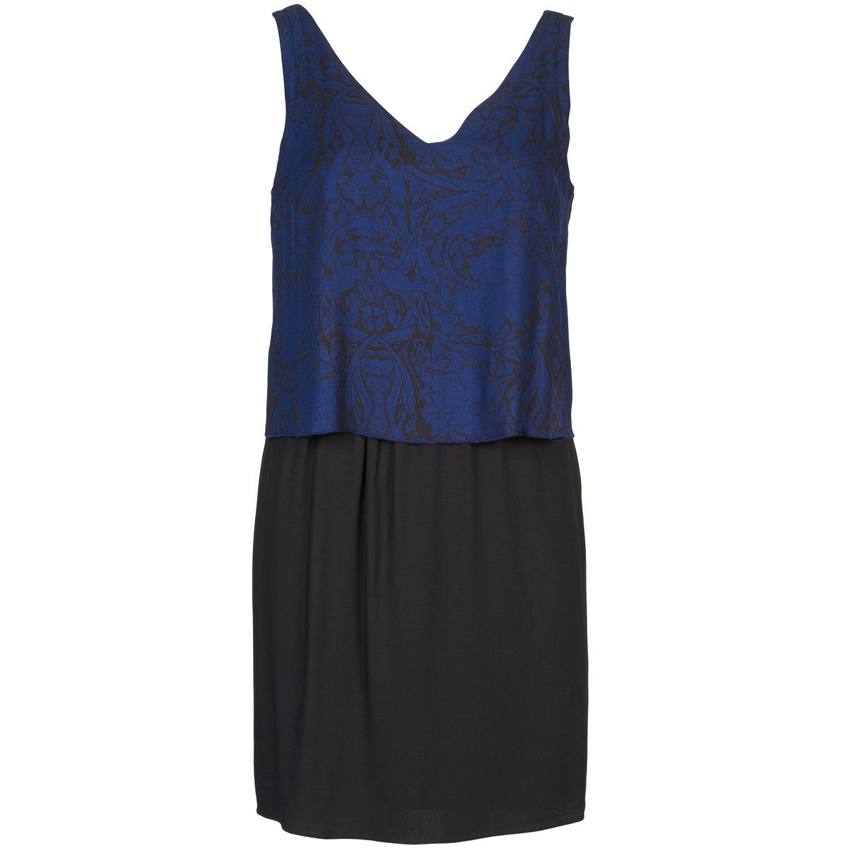 NAF NAF korte jurk lorrice blauw