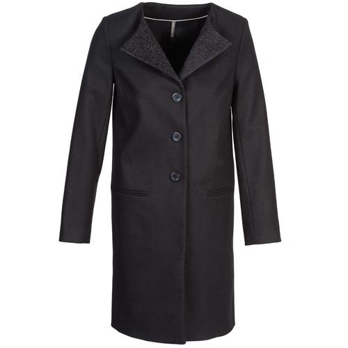 Textiel Dames Mantel jassen Naf Naf APATI Zwart