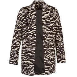 Textiel Dames Mantel jassen Naf Naf DEBOA Zwart / Ecru