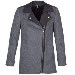 Textiel Dames Mantel jassen Naf Naf ARNO Grijs / Zwart