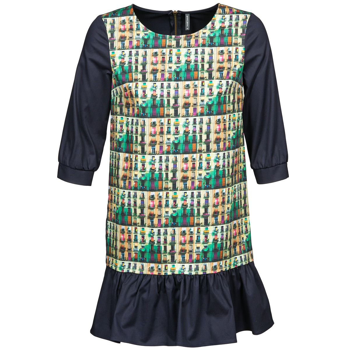 NAF NAF korte jurk ecaps multicolour