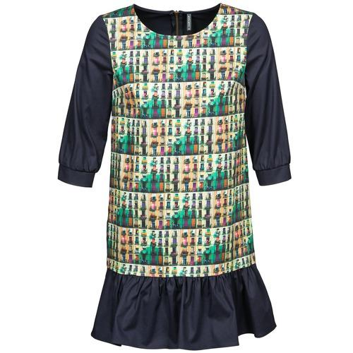 Textiel Dames Korte jurken Naf Naf ECAPS Zwart / Multicolour