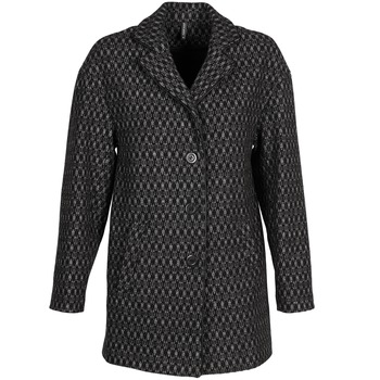 Textiel Dames Mantel jassen Naf Naf AKLAPA Zwart