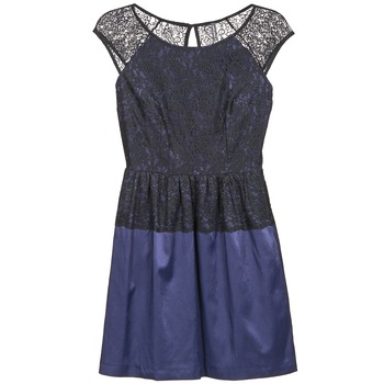 Textiel Dames Korte jurken Naf Naf LYLITA Zwart / Marine