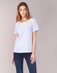 Textiel Dames Tops / Blousjes Betty London GERMA Wit / Blauw
