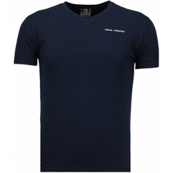 Textiel Heren T-shirts korte mouwen Local Fanatic V Neck Blauw