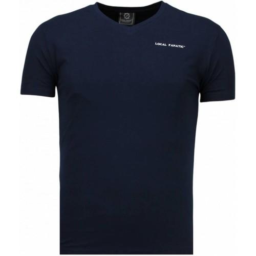 Textiel Heren T-shirts korte mouwen Local Fanatic V Neck Blauw