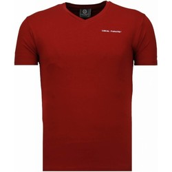 Textiel Heren T-shirts korte mouwen Local Fanatic V Neck Bordeaux