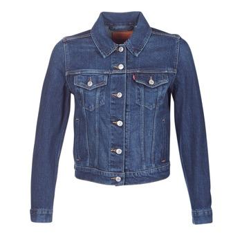Textiel Dames Spijker jassen Levi's ORIGINAL TRUCKER Blauw / Jeans