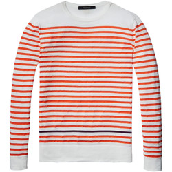 Textiel Heren Truien Scotch & Soda Crewneck pullover Wit