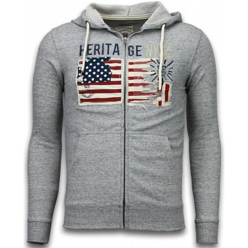 Textiel Heren Vesten / Cardigans Enos Vest Embroidery American Heritage Grijs