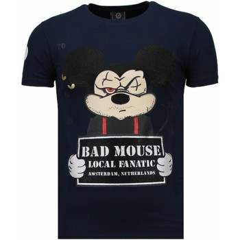 Textiel Heren T-shirts korte mouwen Local Fanatic State Prison - Rhinestone T-shirt Blauw