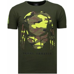 Textiel Heren T-shirts korte mouwen Local Fanatic Predator - Rhinestone T-shirt 25