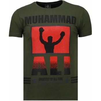 Textiel Heren T-shirts korte mouwen Local Fanatic Muhammad Ali Rhinestone Groen