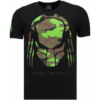 Textiel Heren T-shirts korte mouwen Local Fanatic Predator - Rhinestone T-shirt 38