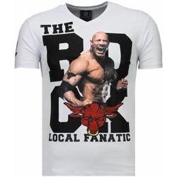 Textiel Heren T-shirts korte mouwen Local Fanatic The Rock - Rhinestone T-shirt 1
