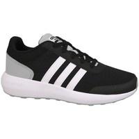 Schoenen Kinderen Running / trail adidas Originals Cblackftwwhtnix Cloudfoam Race Wit-Zwart