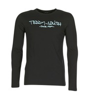 Textiel Heren T-shirts met lange mouwen Teddy Smith TICLASS 3 ML Zwart