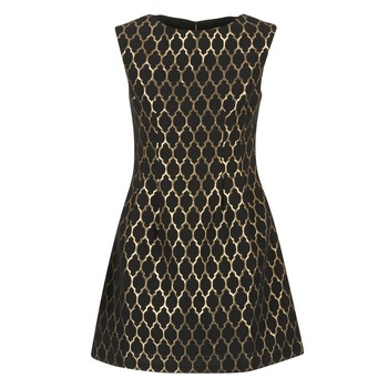 Textiel Dames Korte jurken Molly Bracken DIRCO Zwart / Goud