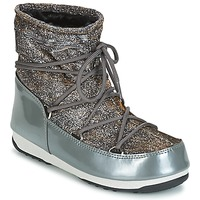 Schoenen Dames Snowboots Moon Boot MOON BOOT WE LOW LUREX Grijs / Zilver