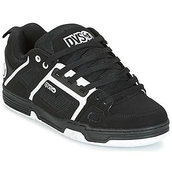 Schoenen Lage sneakers DVS COMANCHE Zwart / Wit