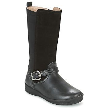 Schoenen Meisjes Hoge laarzen Garvalin NEW FLORES Zwart