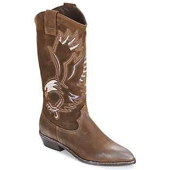 Schoenen Dames Hoge laarzen Now SATURNA Bruin