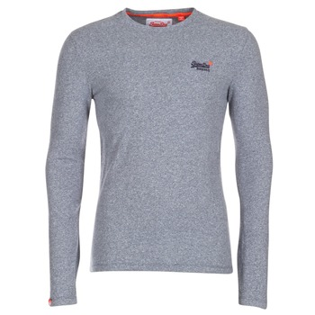 Textiel Heren T-shirts met lange mouwen Superdry ORANGE LABEL VINTAGE Grijs