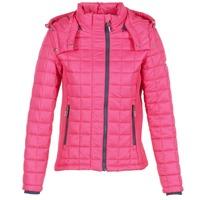Textiel Dames Dons gevoerde jassen Superdry FUJI BOX QUILTED Roze