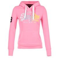Textiel Dames Sweaters / Sweatshirts Superdry VINTAGE LOGO STRIPE FADED Roze