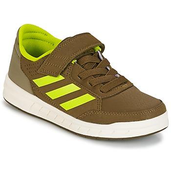 Schoenen Jongens Lage sneakers adidas Performance ALTASPORT EL K Kaki / Geel