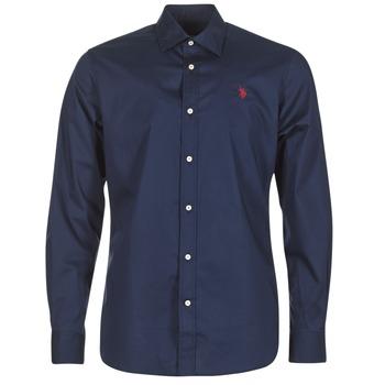 Textiel Heren Overhemden lange mouwen U.S Polo Assn. ZED Marine