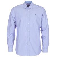 Textiel Heren Overhemden lange mouwen U.S Polo Assn. RUSTY Marine