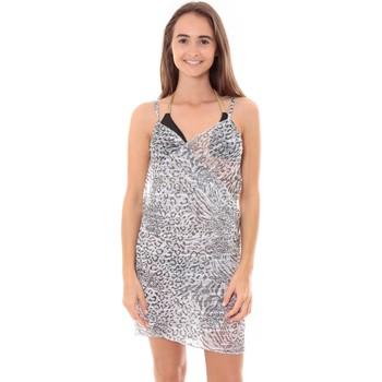 Textiel Dames Pareo Mora Mora Robe Pareo de plage Leopard  Blanc Wit