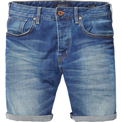 Textiel Heren Korte broeken / Bermuda's Scotch & Soda Ralston short e Denim
