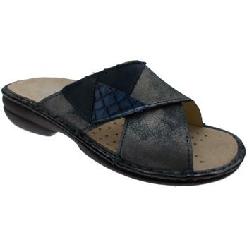 Schoenen Dames Leren slippers Calzaturificio Loren LOM2657bl blu