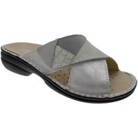 Schoenen Dames Leren slippers Calzaturificio Loren LOM2657bi bianco
