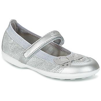 Schoenen Meisjes Ballerina's Geox JR JODIE Zilver