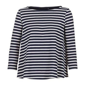 Textiel Dames Tops / Blousjes Petit Bateau LAURENI Wit / Marine
