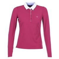 Textiel Dames Polo's lange mouwen Gant SOLID JERSEY LS RUGGER Roze