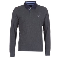 Textiel Heren Polo's lange mouwen Gant THE ORIGINAL HEAVY RUGGER Grijs